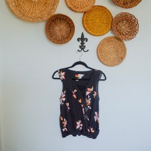 A New Day Ruffled Floral Tank